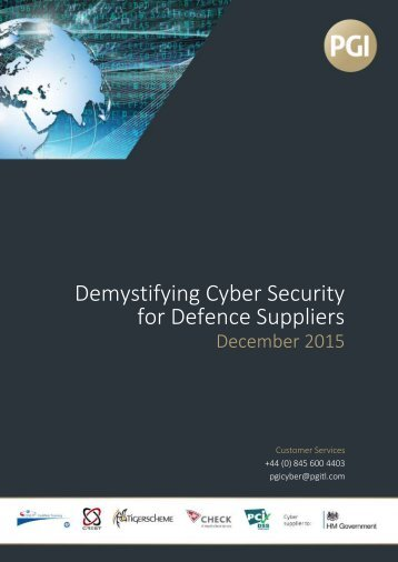Demystifying Cyber Security for Defence Suppliers
