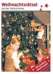 Weihnachten mit der Volksstimme