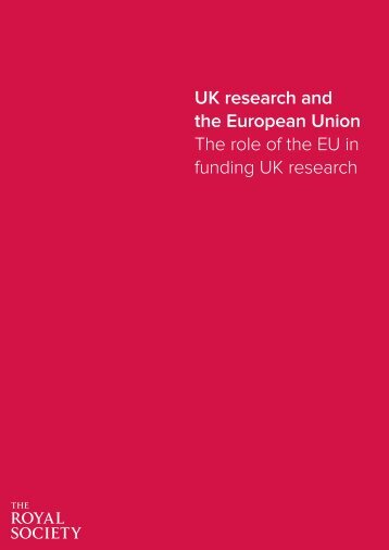 the European Union The role of the EU in funding UK research
