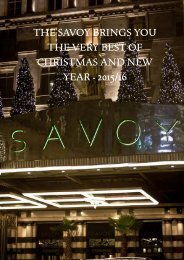 The Savoy brings you the very best of Christmas and New Year - 2015/16