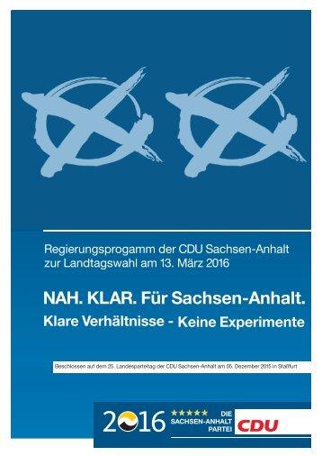 NAH KLAR Für Sachsen-Anhalt NAH KLAR Für Sachsen-Anhalt