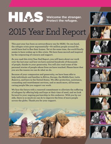 2015 Year End Report