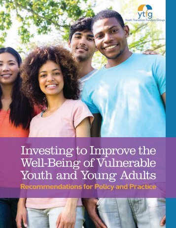 Investing to Improve the Well-Being of Vulnerable Youth and Young Adults