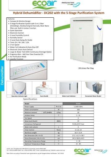 ECOAIR Desiccant Dehumidifier