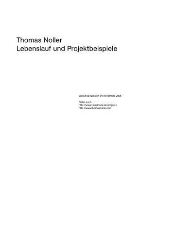 Thomas Noller Lebenslauf und Projektbeispiele - visualcode.de