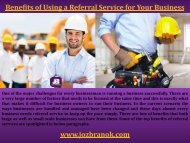 Benefits of Using a Referral Service for Your Business