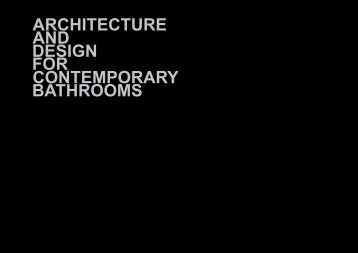 Architecture and Design for Contemporary Bathrooms Catalogue