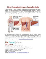 Liver Transplant Surgery Specialist India