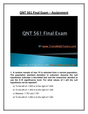mymathlab qnt 561 Collect the newest qnt 561 final exam course matters and study guide  final  exam mymathlab, qnt 561 final exam 2013, qnt 561 week 2.