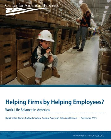 Helping Firms by Helping Employees?