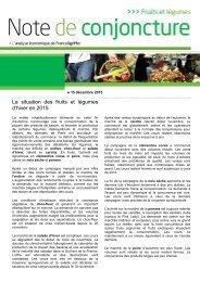 La situation des fruits et légumes d'hiver en 2015