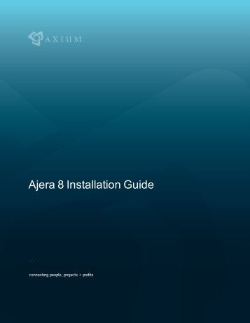 Ajera 8 Installation Guide