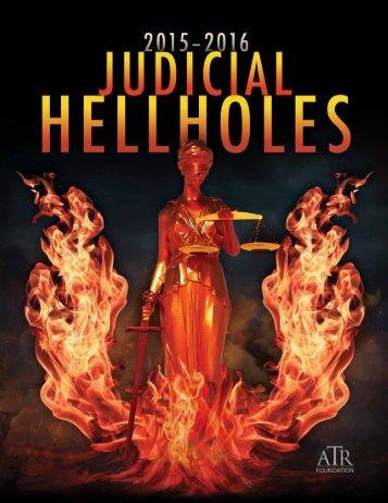 JUDICIAL HELLHOLES 2015–2016