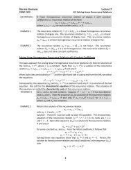 Rosen, 5.4 Binomial Coefficients