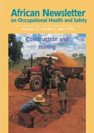 African Newsletter 1/2001 Construction and mining