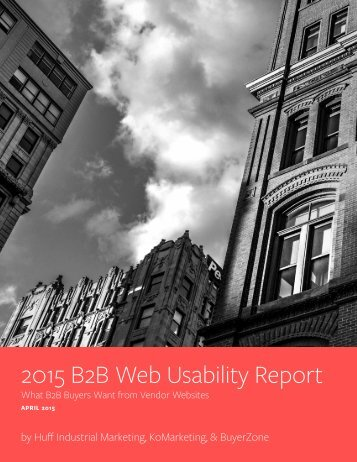 2015 B2B Web Usability Report
