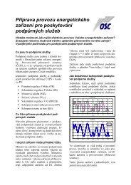 Příprava provozu energetického zařízení pro poskytování ... - OSC, as