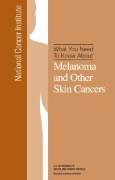 Melanoma and Other Skin Cancers - National Cancer Institute