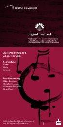 a) Jugendmusikschule Ausschreibung 2008 - Neuenbürg