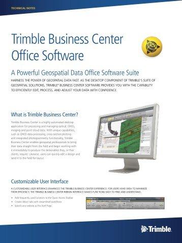 Trimble Business Center Office Software