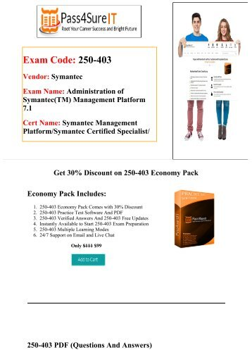 Pass4Sure 250-403 Exam Quick Study and Get Discount