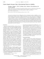 Nuclear Magnetic Resonance Study of Reorientational Motion in r ...