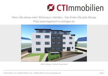 Neubau Solingen Eigentumswohnung Etage 1