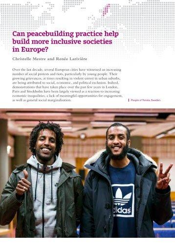 Can peacebuilding practice help build more inclusive societies in Europe?