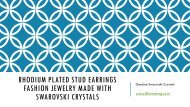 Rhodium Plated Fashion Stud Earrings Jewellery for Women made with Swarovski Crystals