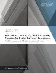 Anti-Money Laundering (AML) Screening Program for Digital Currency Companies