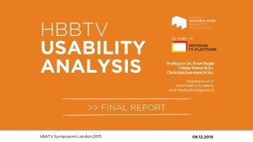 HBBTV USABILITY ANALYSIS