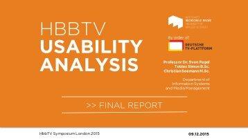 HBBTV USABILITY ANALYSIS