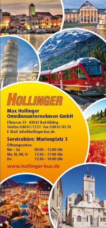 Hollinger Jahresprogramm 2016