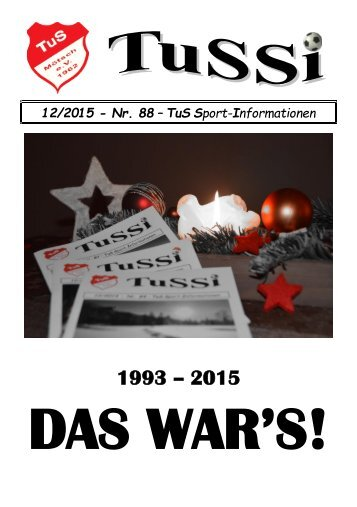 TuSSi Nr 88 - Ausgabe Dezember 2015