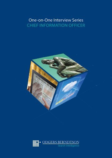 One-on-One Interview Series CHIEF INFORMATION OFFICER