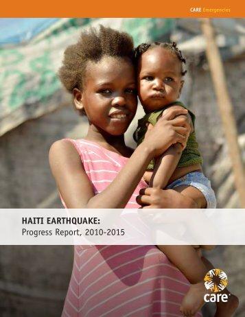 HAITI EARTHQUAKE Progress Report 2010-2015