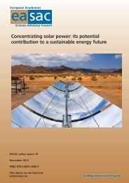 Concentrating solar power: its potential contribution to a ... - EASAC