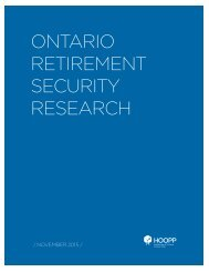 WHITE PAPER ON RETIREMENT SECURITY / NOVEMBER 2015