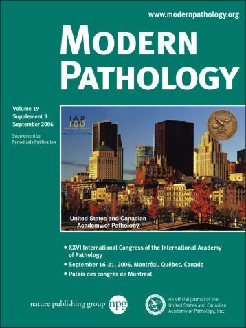 Abstracts - United States and Canadian Academy of Pathology