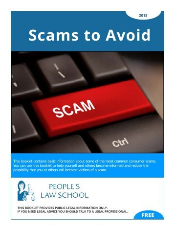 Scams to Avoid