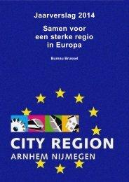 Jaarverslag 2014 Samen voor een sterke regio in Europa