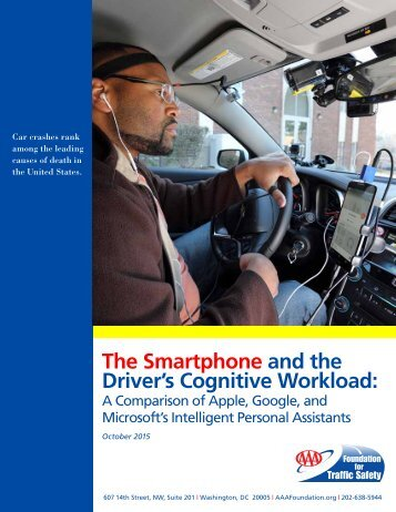 The Smartphone and the Driver's Cognitive Workload
