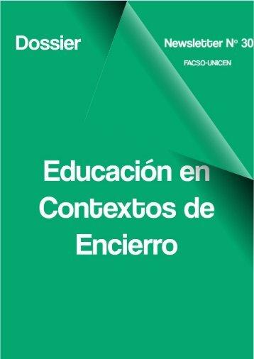 Newsletter Nº 30: Dossier Educación en Contextos de Encierro issn 1850-261x