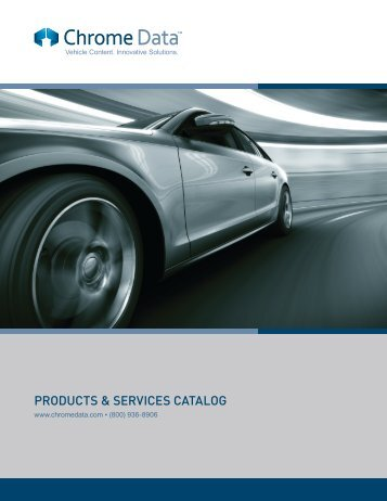 PRODUCTS & SERVICES CATALOG