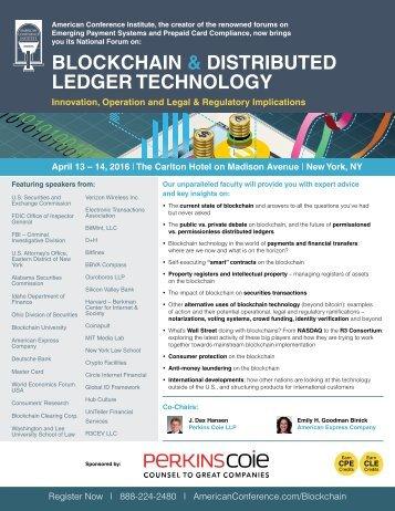 BLOCKCHAIN & DISTRIBUTED LEDGER TECHNOLOGY