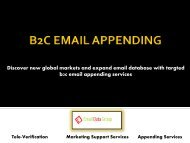 B2C Email Appending Services by Email Data Group