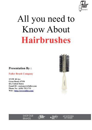 All you need to Know About Hairbrushes