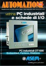 Supplemento Automazione Oggi Settembre 2005 - Vetrina PC industriali e schede di I-O