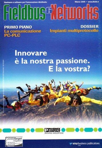 Building Automation 'Vedere e sentire a distanza' - Fieldbus & Networks - Marzo 2005