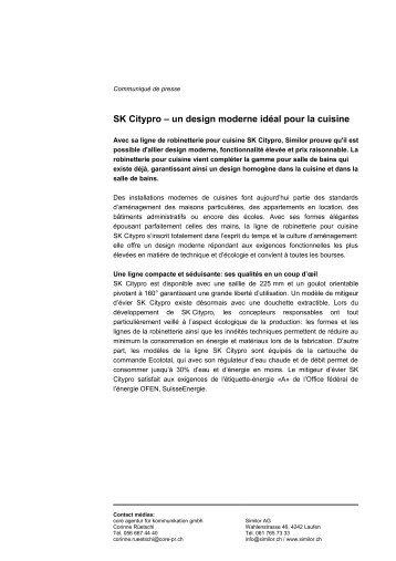 SK Citypro - un design moderne idéal pour la cuisine - chez BRINGHEN AG